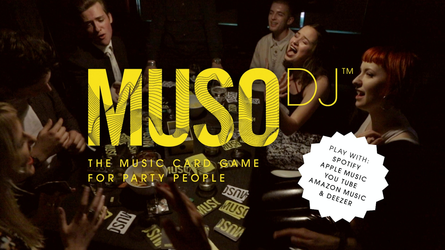 MUSO DJ is the world's first card game you play with music streaming services such as Spotify, Apple Music, YouTube, & Amazon Music.To find out more and buy your copy of MusoDJ Adult Edition, with PayPal please go to www.musodj.com NOW !