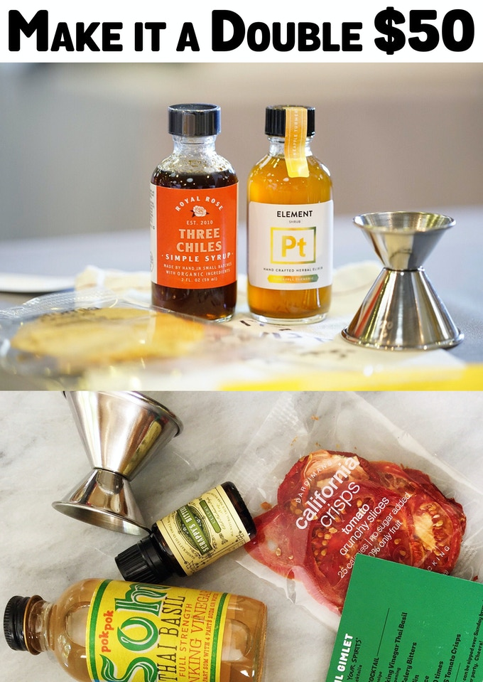 2 Classic Cocktail Kits (2 Mixers, Garnish, Jigger, Recipe)