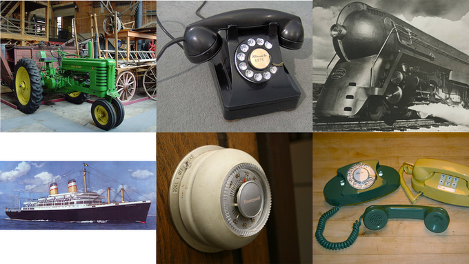 Just some of the iconic products designed by Henry Dreyfuss Associates
