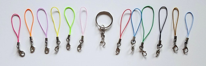 keychain & various phone strap colors