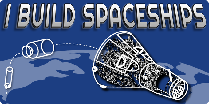 """I Build Spaceships"" Sticker Design"