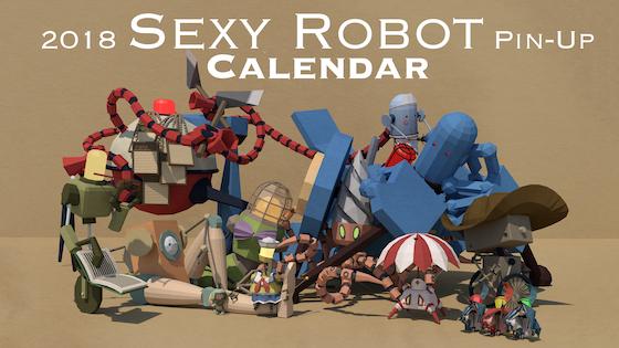 2018 Sexy Robot Pin-Up Calendar