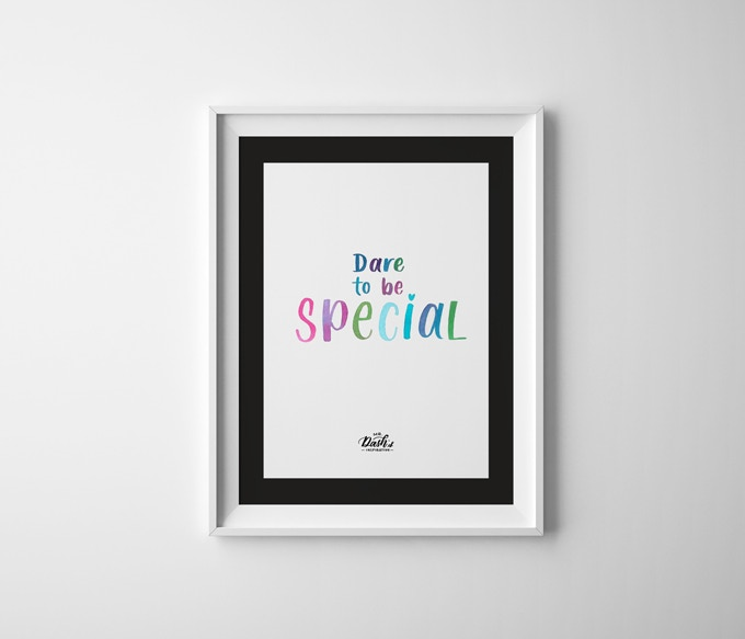 """Dare To Be Special (Multicolor, size: 11""""x17"""")"""