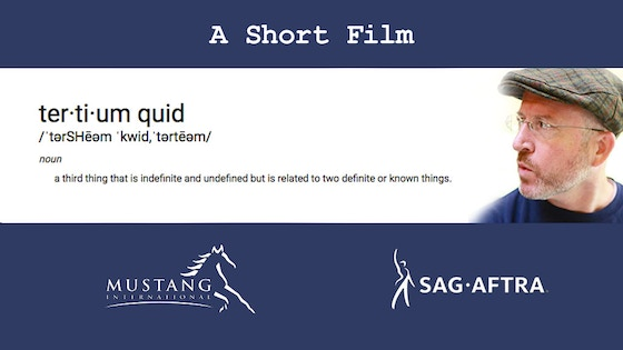 YES! Mustang and Gordon's New Short Film - Tertium Quid