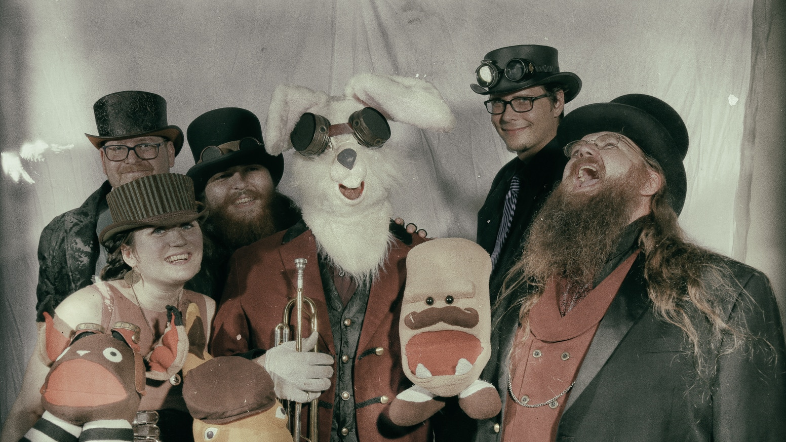 "Puppets! Rabbits!  Madness!  The Velveteen Band is releasing our second album, ""What's on the Other Side"" -- be a part of history!"