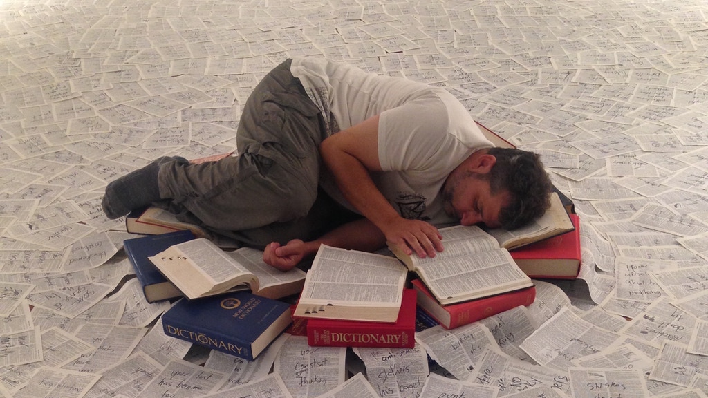 """The Language Is Asleep,"" a performance installation project video thumbnail"