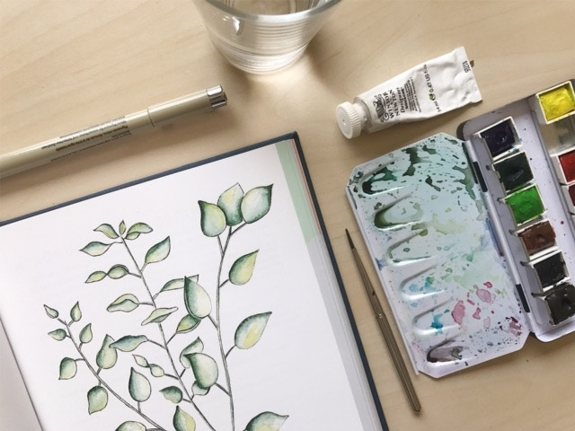 The Ordinary Times botanical illustration (drafted here) is also available as a digital download