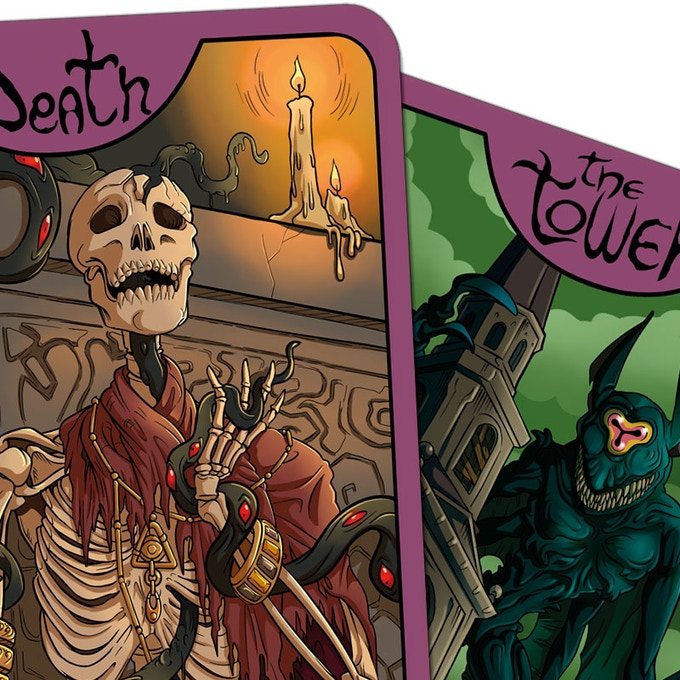 Death and The Tower cards details