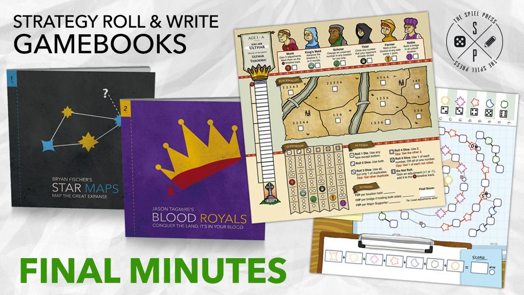 The Spiel Press Roll and Write Gamebooks - Book 1 and 2 project video thumbnail