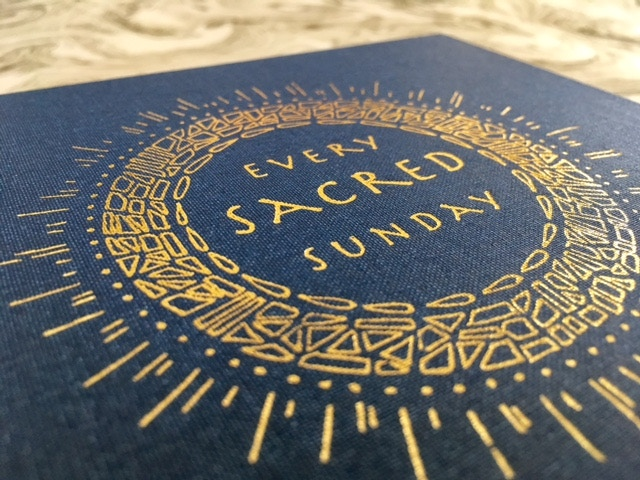 Gold foil stamp on the cover and spine