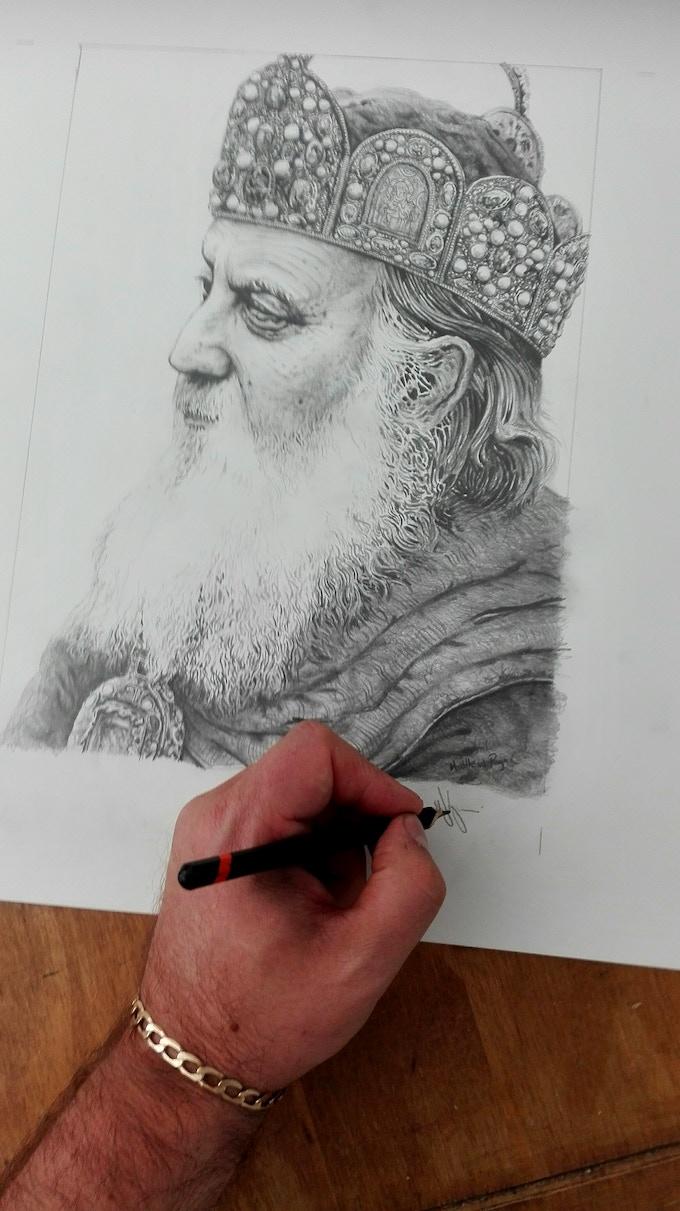 In progress art for Paladin by Matthew Ryan