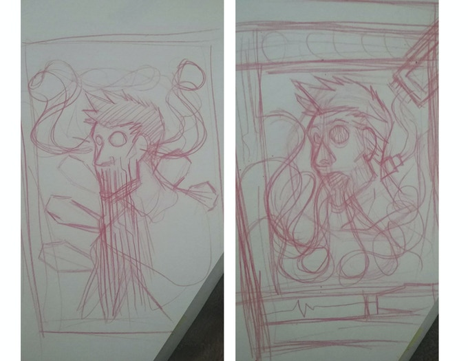 Rough Sketches of the Special Edition Poster