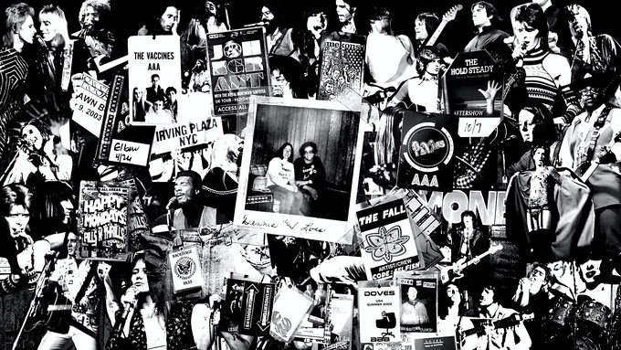 LIMITED EDITION PRINT #3: The Bands Collage ($150)