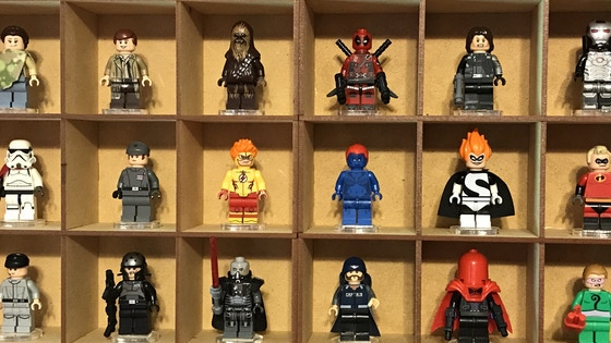 Bases & Showcases: Minifig/Miniature Showcases and Stands