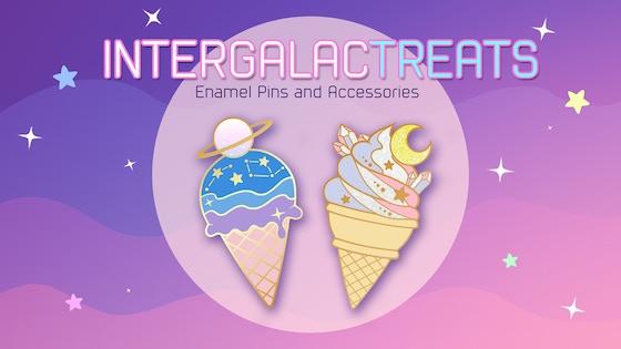 Intergalac-treats: Galaxy-themed Enamel Pins and Accessories