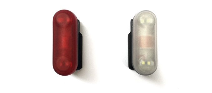 Available with red or white LEDs