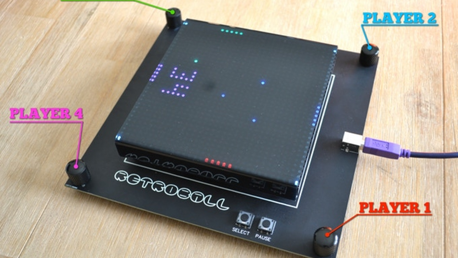 The Build-It-Yourself LED Kit Based on the Classic Game - PONG