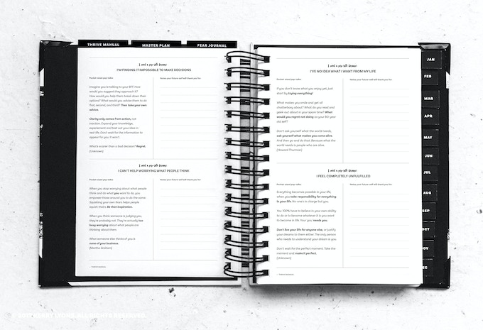 The Imperfect Life® planner – thrive manual