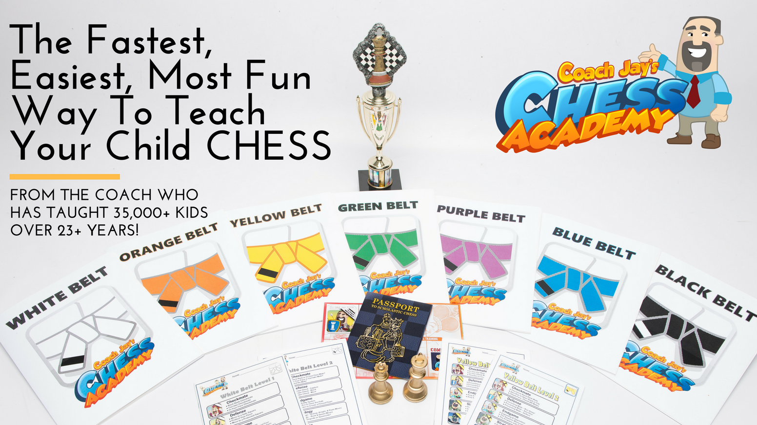 The fastest, easiest, MOST FUN way to learn chess! From the coach who's taught over 35,000 kids to play chess in the past 23+ years. You're never too young (or old!) to begin to reap the lifelong benefits that only chess can bring!