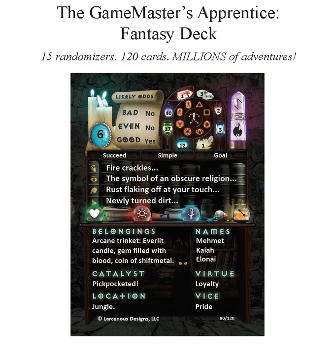 The Gamemaster S Apprentice A Fantasy Deck For Any Rpg By