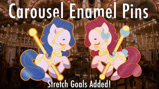 Carousel Horse Enamel Pins