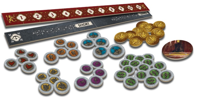 Preview of the cardboard components of the Starter Set