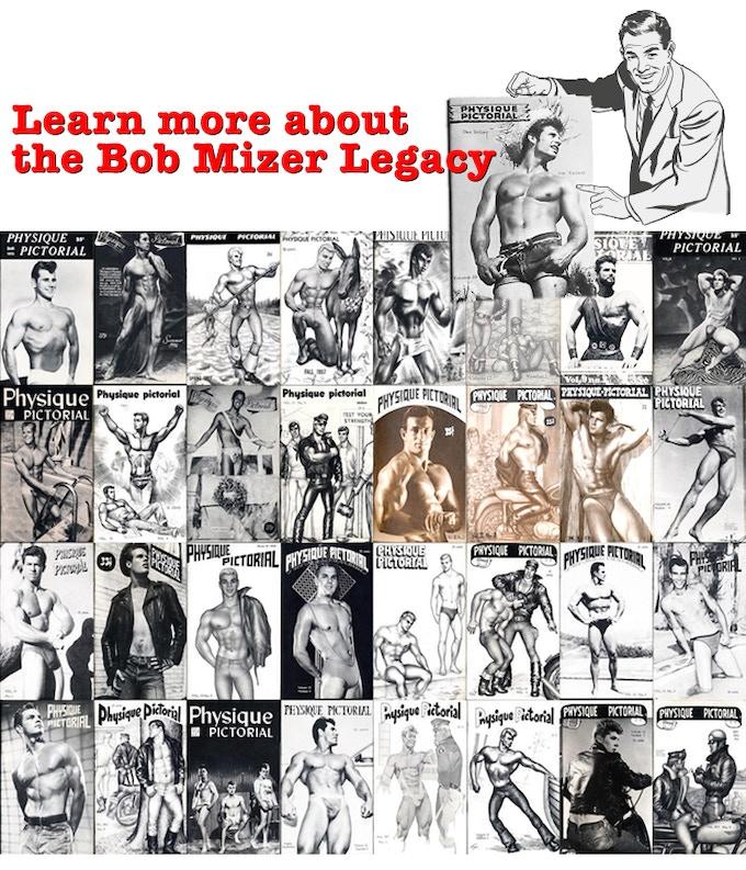 1945- Bob Mizer begins taking photos of bodybuilders at