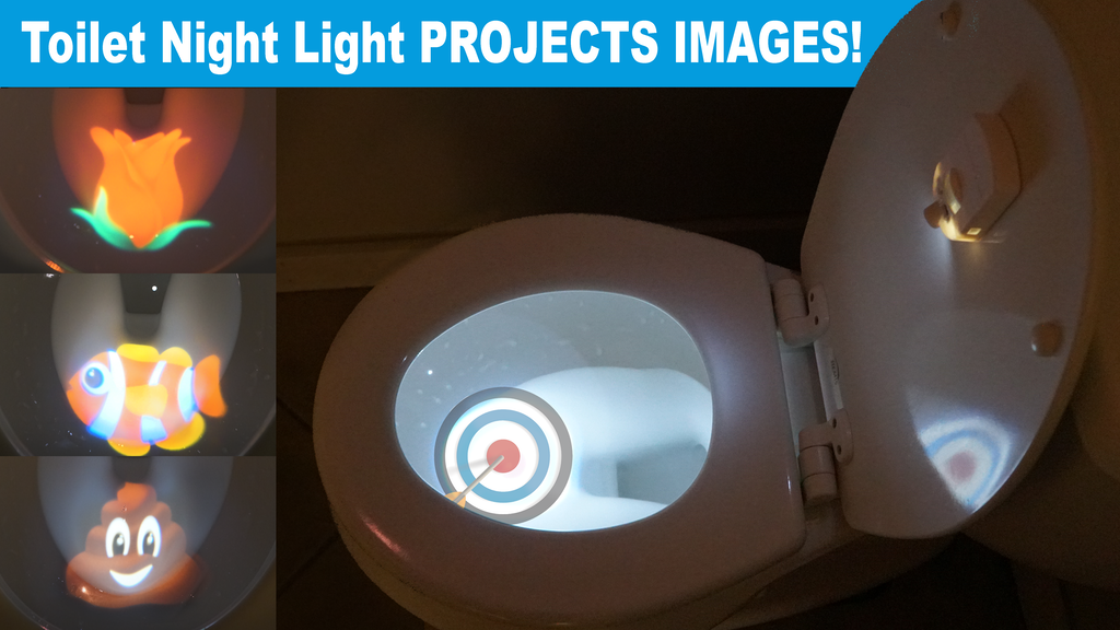Projector Toilet Night Light! Project a Poop Emoji or Target project video thumbnail