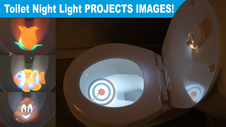 Projector toilet night light project a poop emoji or for Target fish bowl