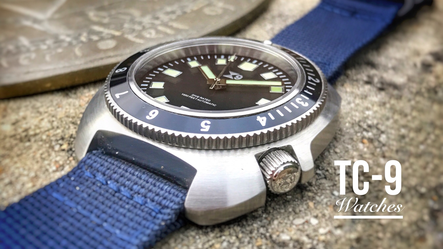 tc 9 divers watch free second bezel to choose your look by tc 9