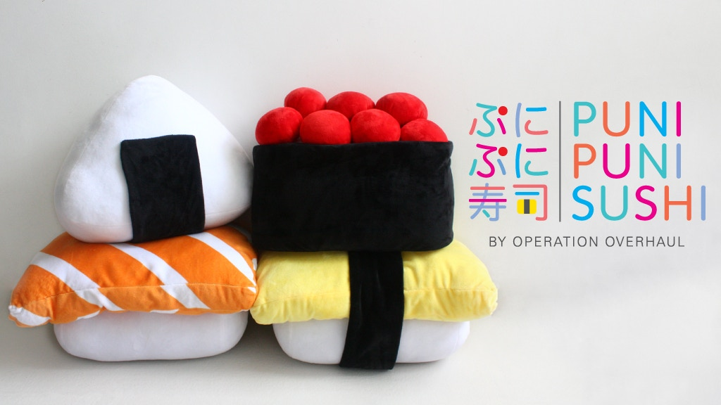 Puni Puni Sushi - Supersized Huggable Sushi Plushies project video thumbnail