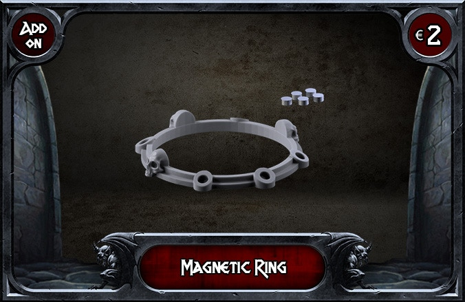 You will receive 1 Ring with 5 Magnets. You will choose 25 or 32 mm during Pledge Manager