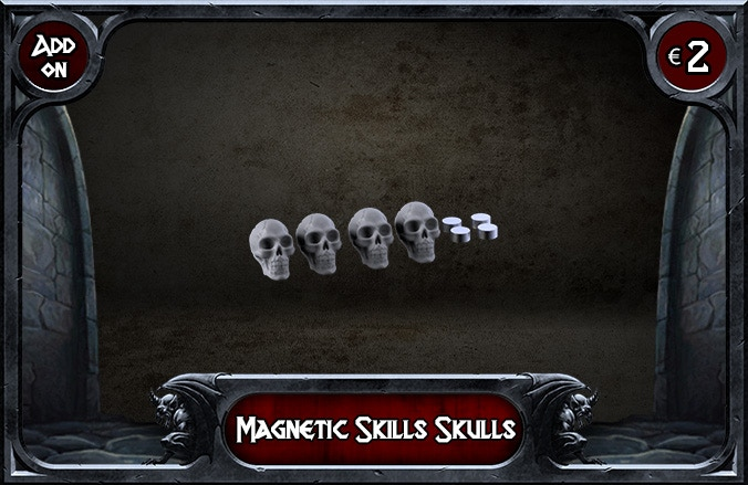 You will receive 4 Skulls and 4 Magnets
