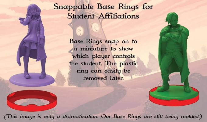 Here's a quick preview of the base rings, the major component change from 1st edition.