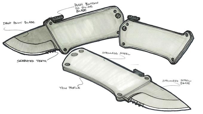 Soldier Tsk 1 The Only Tactical Sliding Pocket Knife By