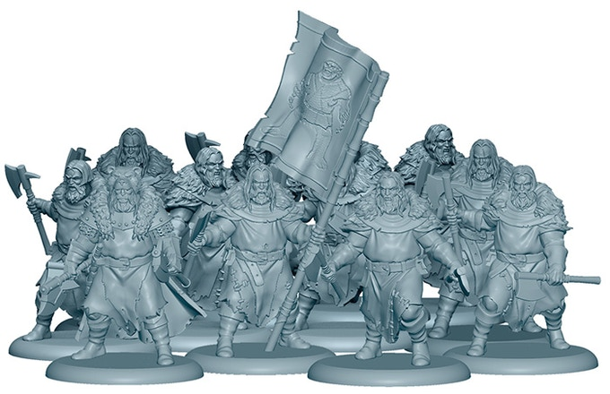 3D Render of the Umber Berserkers, included in the Starter Set!