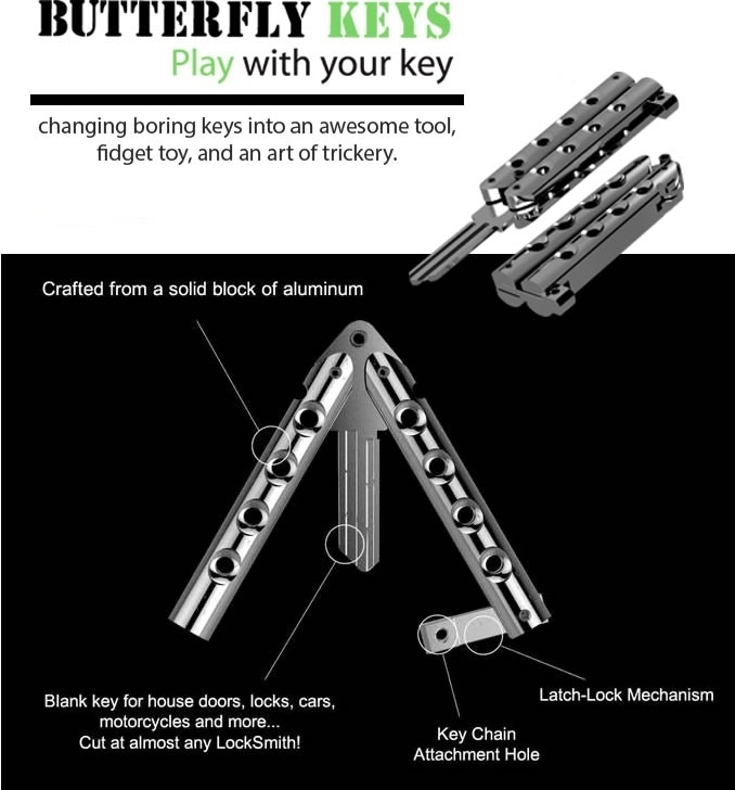 ButterflyKey - Butterfly Knife Style Key Blanks - EDC by