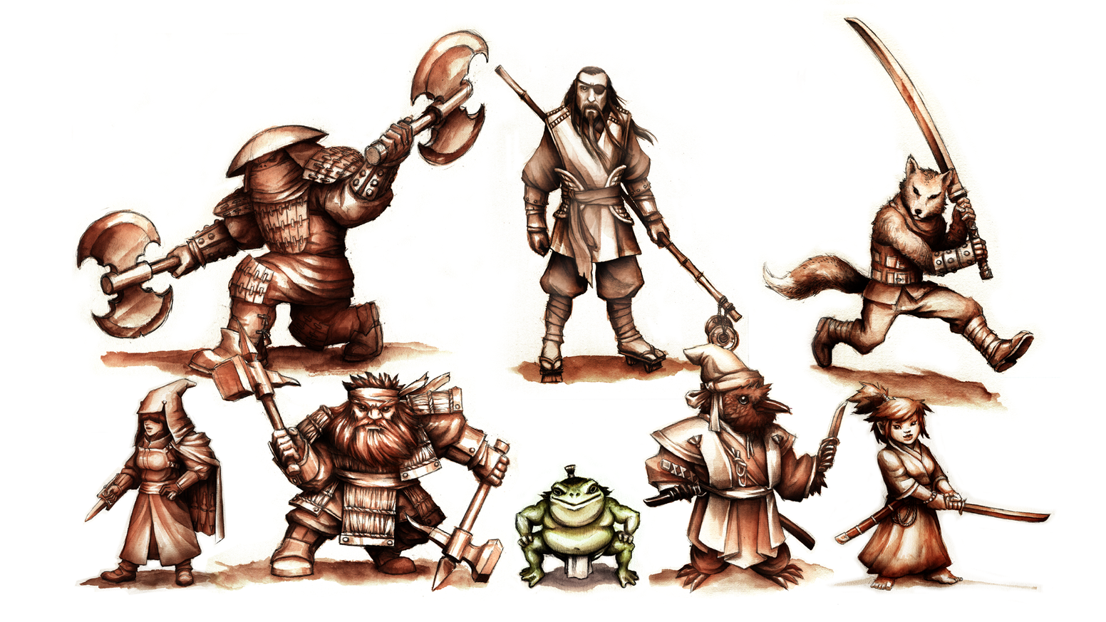 We're producing a diverse group of 28mm miniature heroes for role-playing, dungeon-crawling, dragon-slaying, and tabletop wargaming.