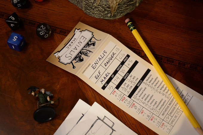 Character trackers are filled out by the players or GM to track player characters