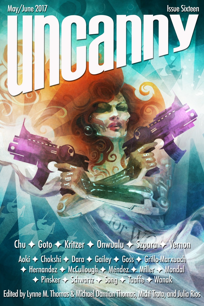 Uncanny Magazine Issue 16: cover art by Galen Dara
