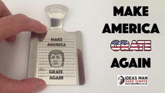 Make America Grate Again - laser etched ginger/garlic grater