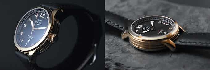 Rose Gold Case / Black Dial