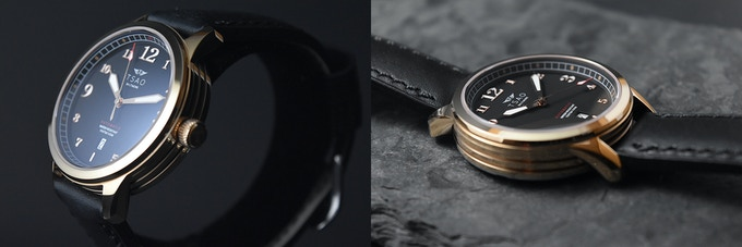 Rose Gold Case / Black Dial
