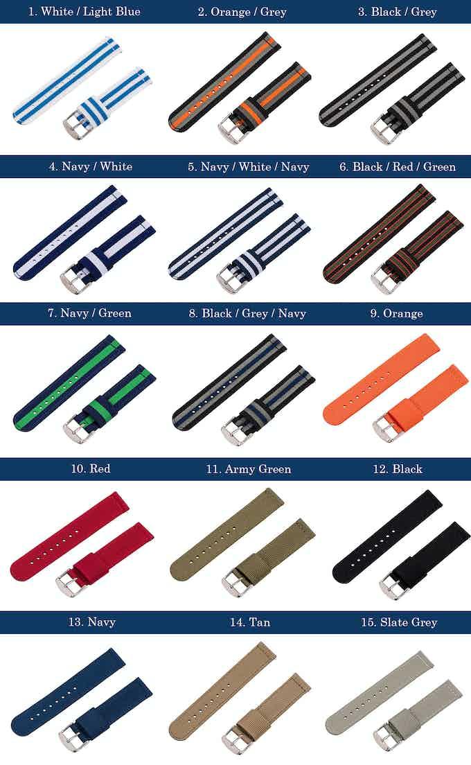 NATO Strap Color Options