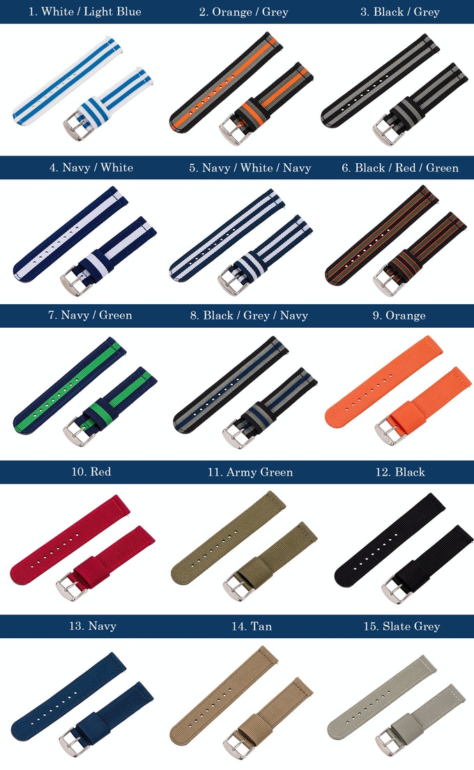 NATO Strap Color Options