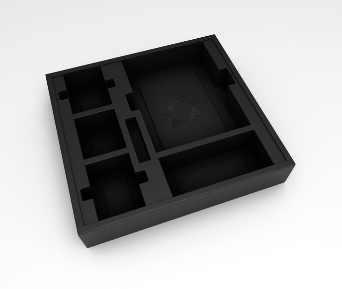 Custom Molded Box Insert with deck slots that hold sleeved cards!