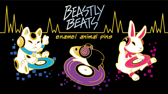 Beastly Beats - DJ Animal Enamel Pins