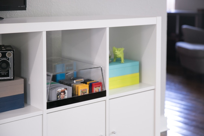 The BitLounger XL Fits Perfectly in Ikea Kallax & Expedit Shelving Units