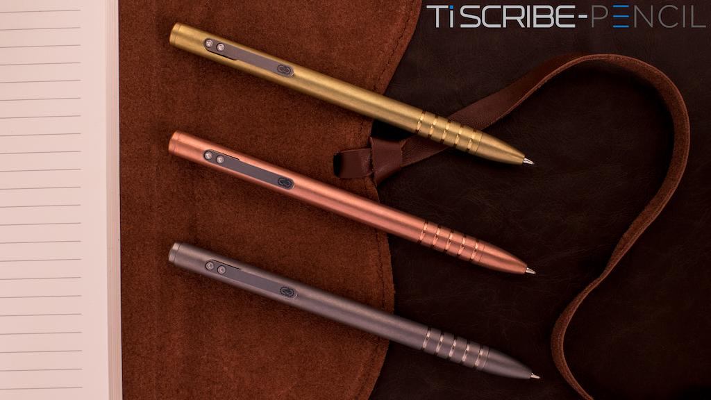 TiScribe-Pencil™: Ultimate Titanium Bolt-Action Pencil & Pen project video thumbnail