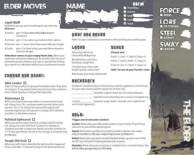 Character playbook: The Elder
